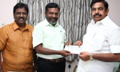 Gaja Cyclone CM Releif Fund By Thol Thirumavalavan